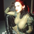 Bianca Beauchamp in see-through latex catsuit