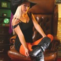 Jana D looks sensational in her witch outfit
