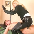 Madame Jana punishes slaves by body building